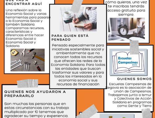 Nuevo curso gratuito de «Herramientas Financieras para Iniciativas Sociales y Solidarias»
