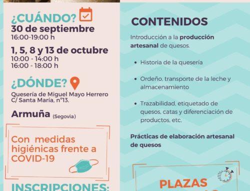 ISMUR impartirá un curso de elaboración de quesos en la localidad de Armuña